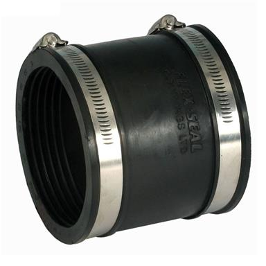 POLYPIPE Flexicon Flexible Rubber Drain Coupling 135-150mm, XDR150