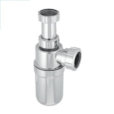 A10AR-CP 32MM RESEALING CHROME BOTTLE TRAPWITH 75MM WATER SEAL