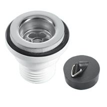 "11/4"" CENTRE PIN BASIN WASTE STAINLESS STEEL FLANGE"