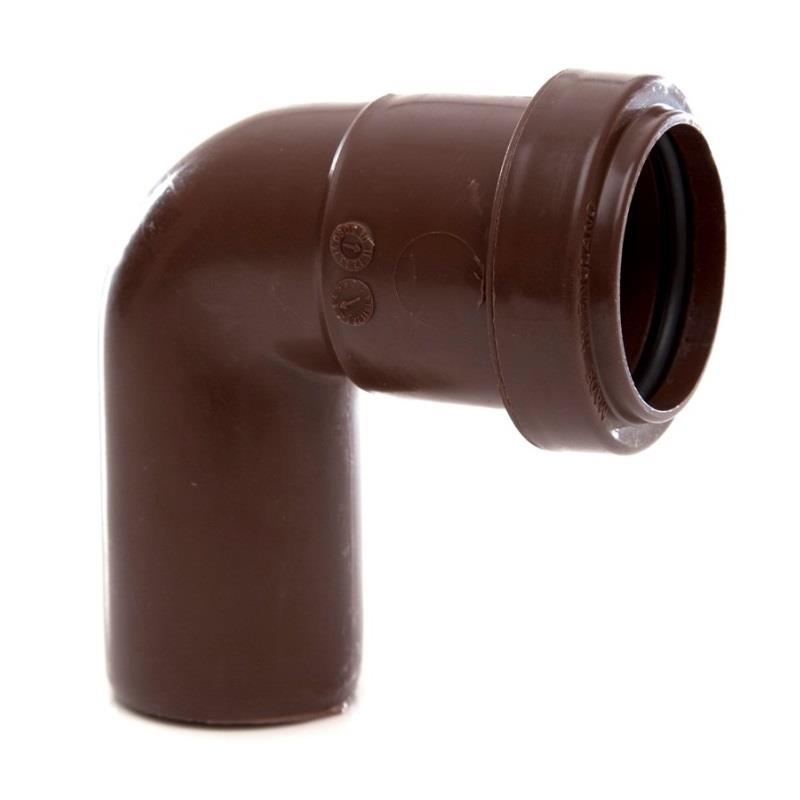 Polypipe Push Fit Waste 32mm Swivel Bend 91 25deg Brown