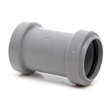 WP25 32MM PUSH-FIT STRAIGHT COUPLING GREY