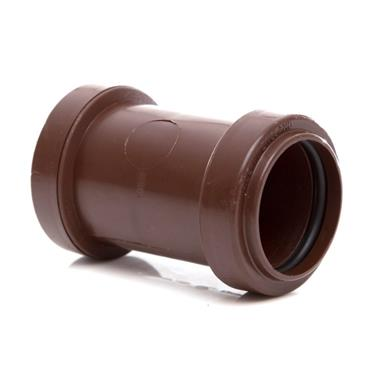 WP25 32MM PUSH-FIT STRAIGHT COUPLING BROWN