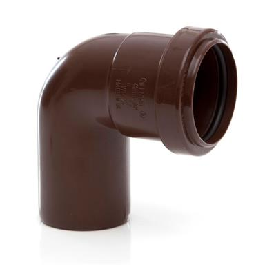 POLYPIPE Push-Fit Waste 40mm Swivel Bend 91.25Deg, Brown, WP24BR