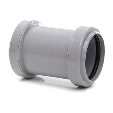 WP26 40MM PUSH-FIT STRAIGHT COUPLING GREY