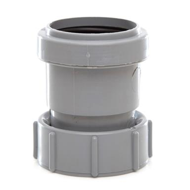 WP32 40MM PUSH-FIT THREADED COUPLING GREY