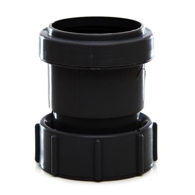 POLYPIPE Push-Fit Waste 40mm Threaded Coupling BSP Female, Black, WP32B