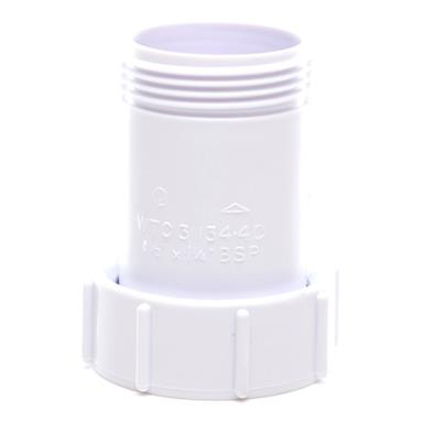 POLYPIPE Waste To Trap Connector 32mm x 40mm, White, WTC2