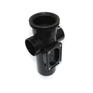 SA343 82MM POLYPIPE ACCESS BOSS PIPE BLACK