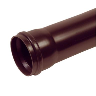 3 METRE 110MM POLYPIPE SINGLE SOCKETED SOIL PIPE BROWN