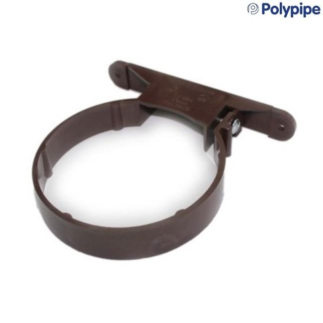 Polypipe Soil And Vent 110mm Plastic Pipe Clip Brown Sc44br