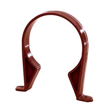 SC43 110MM POLYPIPE SADDLE PIPE CLIP BROWN