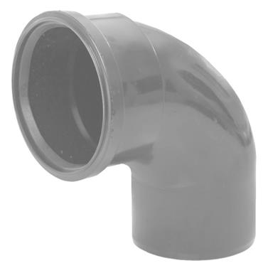 SB409 110MM POLYPIPE 92 DEGREE BEND GREY