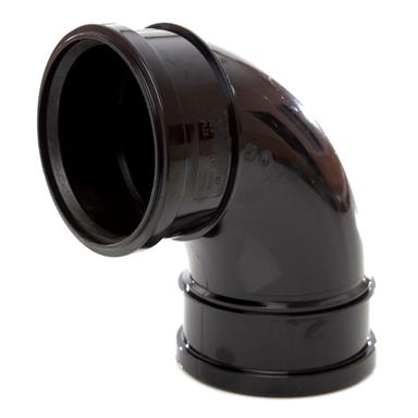 SB417 110MM POLYPIPE 92 DEGREE DOUBLE SOCKET BEND BLACK