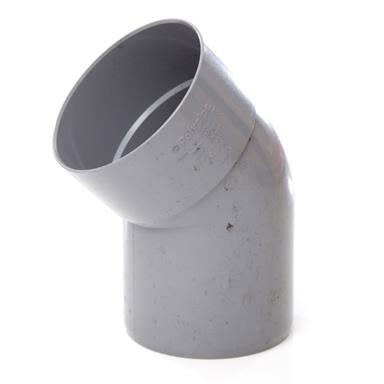 POLYPIPE Solvent Soil and Vent 110mm Offset Bend 135Deg Single Socket, Grey, SB404G