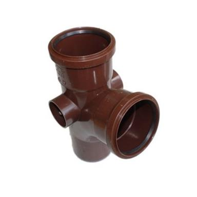 ST402 110MM POLYPIPE 104 DEGREE BRANCH BROWN