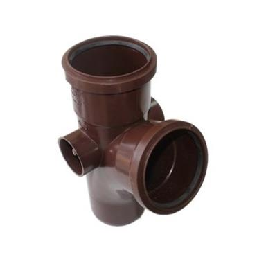 ST403 110MM POLYPIPE 112 DEGREE BRANCH BROWN