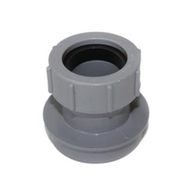 SN63 32MM POLYPIPE STRAIGHT BOSS ADAPTOR SOLVENT/COMP GREY