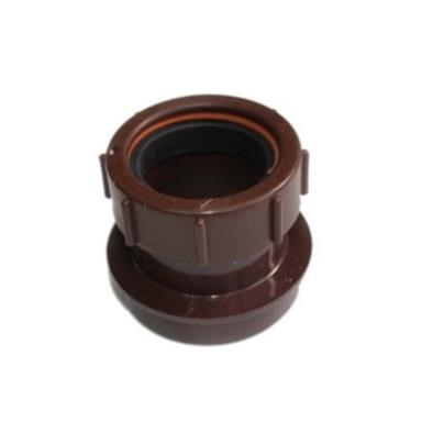 SN64 40MM POLYPIPE STRAIGHT BOSS ADAPTOR SOLVENT/COMP BROWN