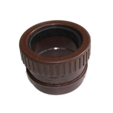 SN65 50MM POLYPIPE STRAIGHT BOSS ADAPTOR SOLVENT/COMP BROWN