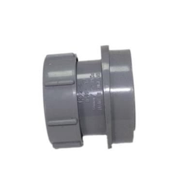 SN67 40MM POLYPIPE ANGLED BOSS ADAPTOR SOLVENT/COMP GREY