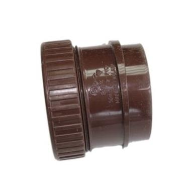 SN68 50MM POLYPIPE ANGLED BOSS ADAPTOR SOLVENT/COMP BROWN