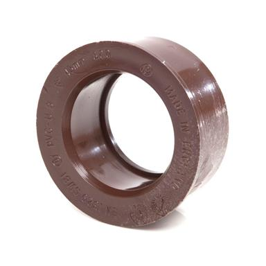 SW81 40MM POLYPIPE SOLVENT ADAPTOR BROWN