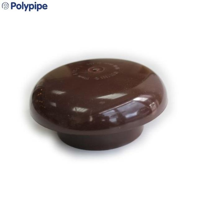Polypipe Soil And Vent 110mm Vent Cowl Brown Scv40br