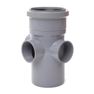 SJ454 110MM POLYPIPE BOSS PIPE REQUIRE BOSS ADAPTORS GREY
