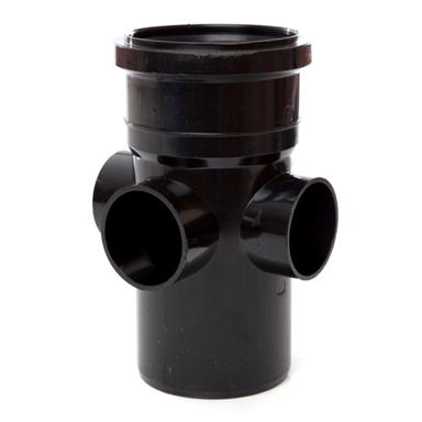 SJ454 110MM POLYPIPE BOSS PIPE REQUIRE BOSS ADAPTORS BLACK