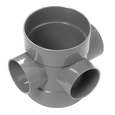 SE60 110MM POLYPIPE SHORT BOSS PIPE GREY