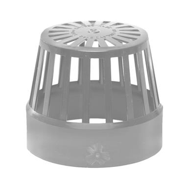 SV42 110MM POLYPIPE VENT TERMINAL GREY