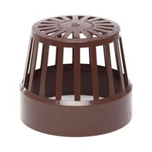 SV42 110MM POLYPIPE VENT TERMINAL BROWN