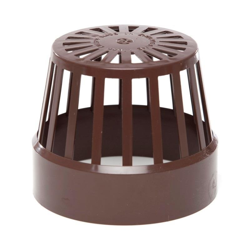 Polypipe soil and vent 110mm vent terminal brown sv42br for 80mm soil vent pipe