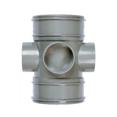 SWE60 110MM POLYPIPE BOSS PIPE SOLVENT DOUBLE SOCKET S/GREY