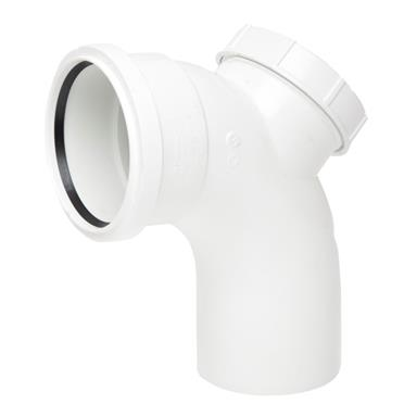 SB413 110MM POLYPIPE 92 DEGREE ACCESS BENDWHITE