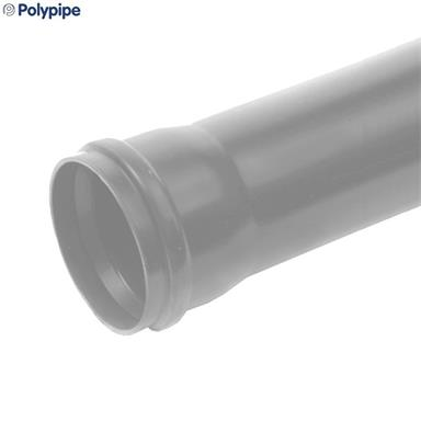 3 METRE 160MM POLYPIPE SINGLE SOCKETED SOIL PIPE GREY
