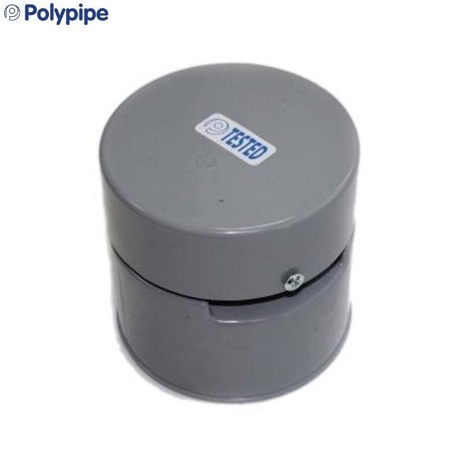 POLYPIPE Soil and Vent 110mm Automatic Air Admittance Valve, Grey