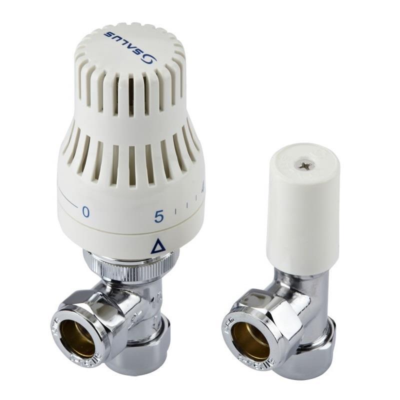 10 X Sets Of 15mm Thermostatic Radiator Valves c//w Lockshields