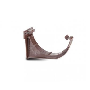 RR109 112MM POLYPIPE HALF ROUND FASCIA BRACKET BROWN