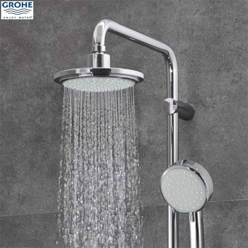 grohe tempesta cosmopolitan system 160 bar shower 2 outlets chrome 26302 000. Black Bedroom Furniture Sets. Home Design Ideas
