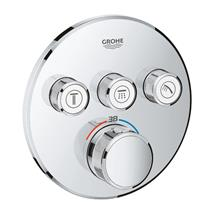 GROHE SmartControl Thermostat For Concealed Installation 4 Valves, Chrome, 29121000