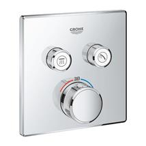 GROHE SmartControl Thermostat For Concealed Installation 2 Valves, Chrome, 29124000