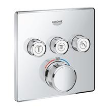 GROHE SmartControl Thermostat For Concealed Installation 3 Valves, Chrome, 29126000