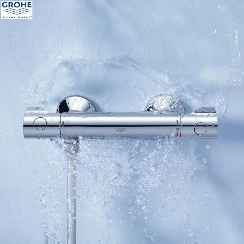 Grohe grohtherm 800 thermostatic bar shower 1 2 39 39 c w kit chrome 34565 000 - Grohe grohtherm 800 ...