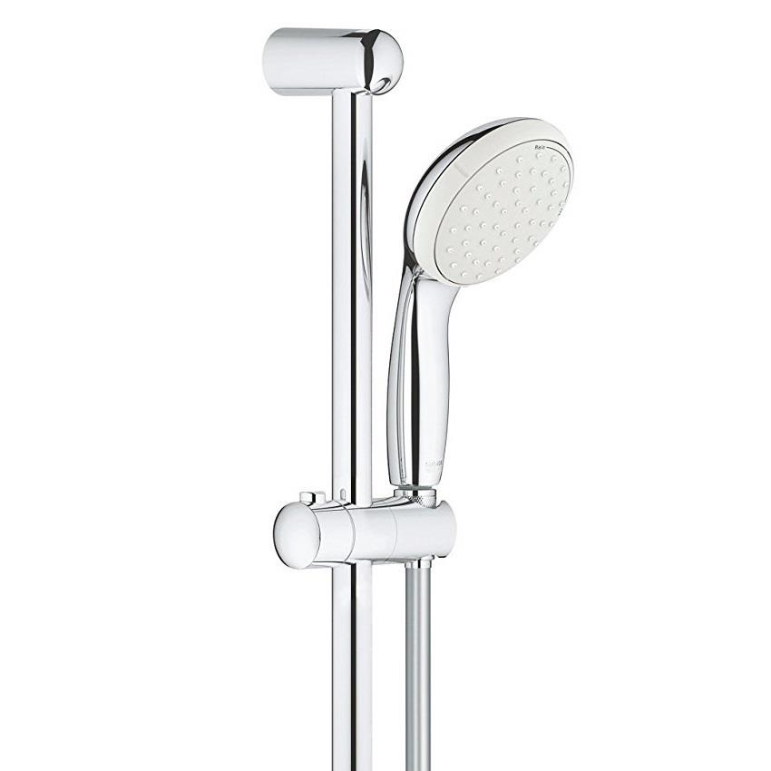 grohe grohtherm 800 thermostatic bar shower 1 2 39 39 c w kit chrome 34565 001 plumbing for less. Black Bedroom Furniture Sets. Home Design Ideas