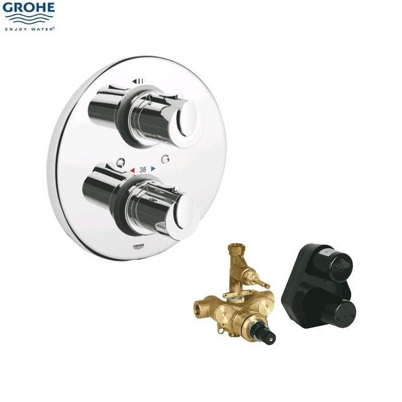 grohe grohtherm 1000 thermostatic biv shower 1 2 c w kit chrome 34162 001. Black Bedroom Furniture Sets. Home Design Ideas
