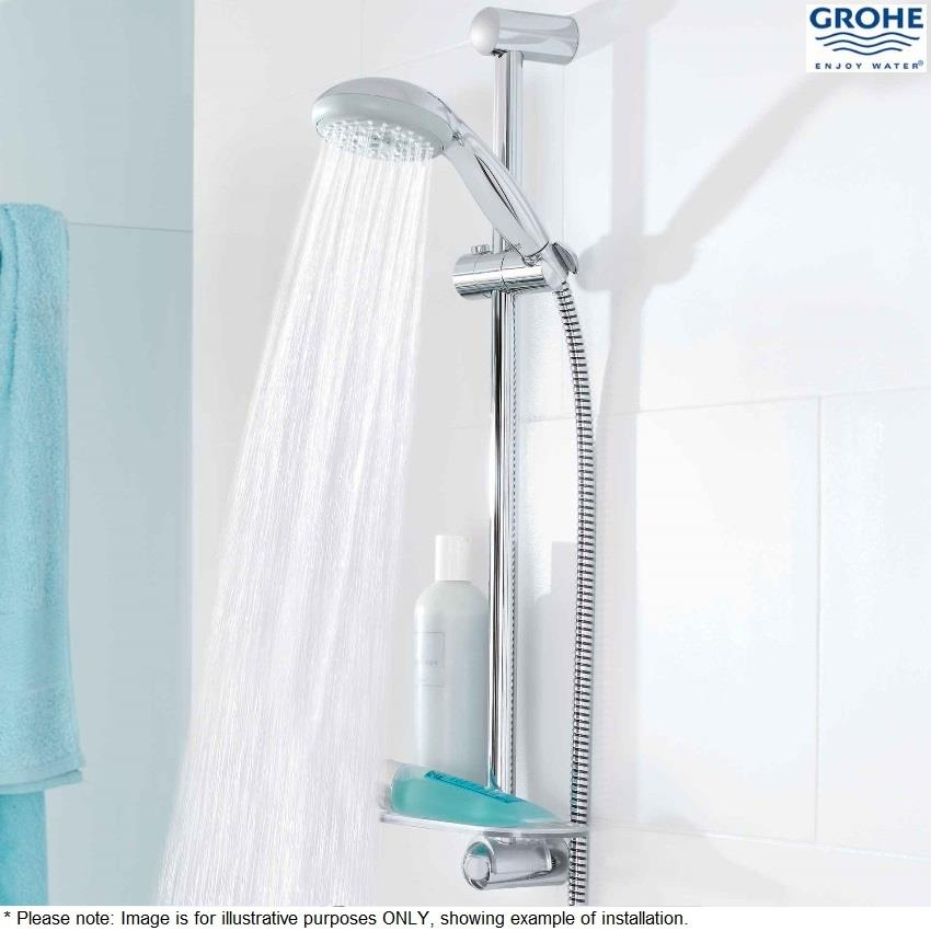 grohe new tempesta 100 hand shower 4 spray patterns chrome 28578 001. Black Bedroom Furniture Sets. Home Design Ideas