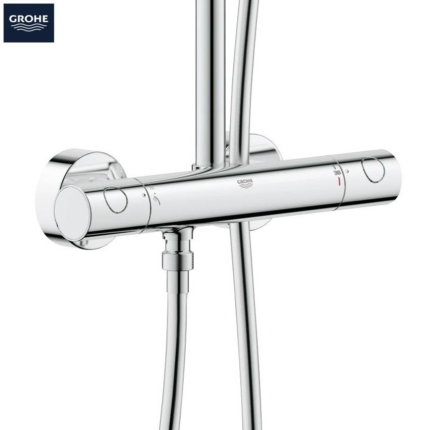 GROHE Euphoria System 180 Thermostatic Bar Shower, 2 Outlets, Chrome ...