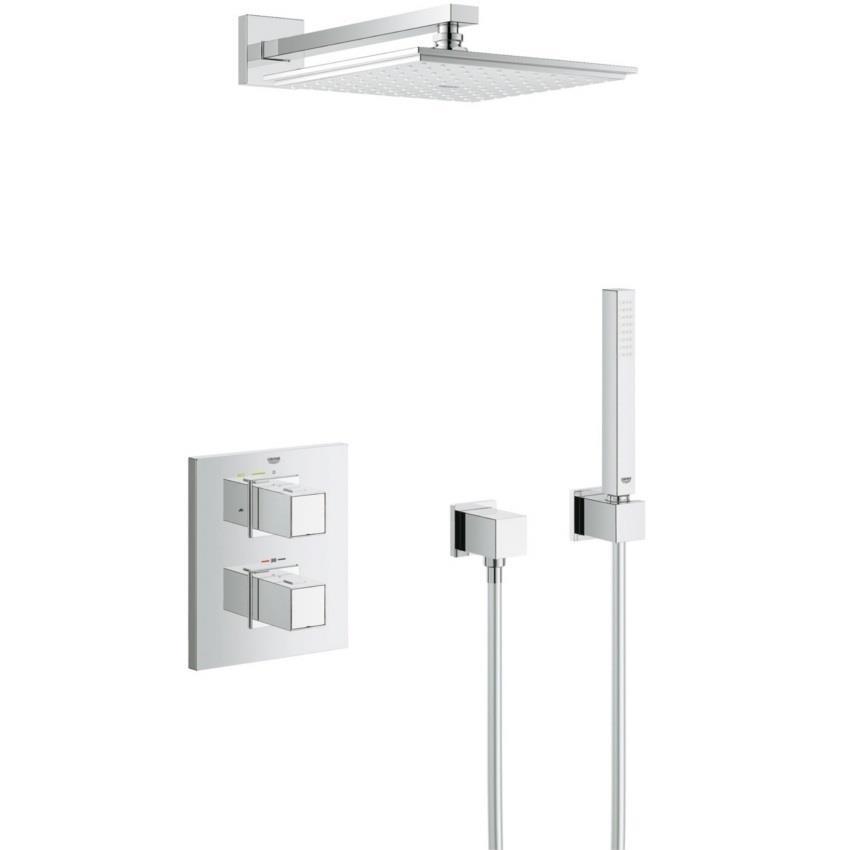 Großartig GROHE Grohtherm Cube Square Concealed Shower System, Chrome, 34506 000 EF11