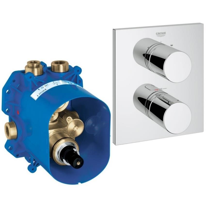 Bevorzugt GROHE 3000 Cosmopolitan Thermostatic BIV Bath/Shower Mixer UX31